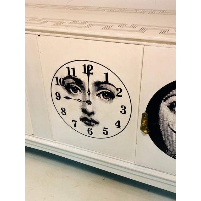 Italian 20th C. Italian Commode Cabinet in the Manner of Piero Fornasetti For Sale - Image 3 of 11