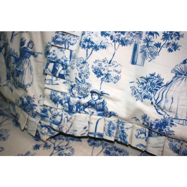 Custom Toile Duvet & Two Pillow Covers - S/3 - Image 3 of 6