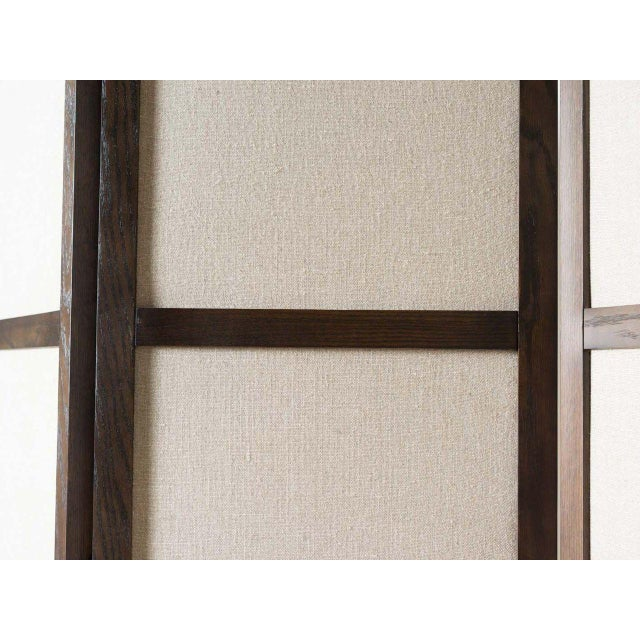 2010s Ainsley Linen Upholstered Panel Screen For Sale - Image 5 of 6