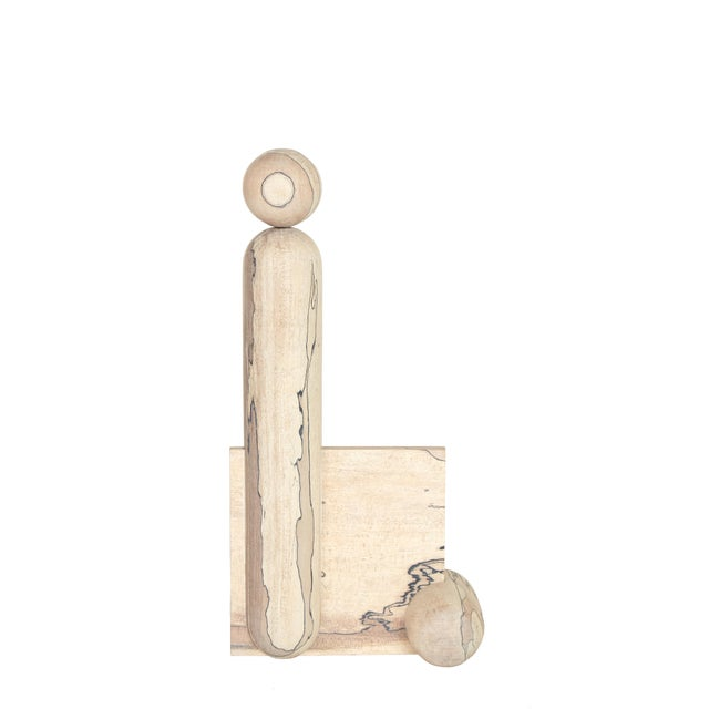 2010s Useful/ Useless Maple Sculpture by Hamilton Holmes For Sale - Image 5 of 5