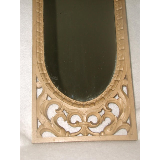 Late 19th Century Antique 19th C. Petite Carved Wooden Arched Mirror For Sale - Image 5 of 7