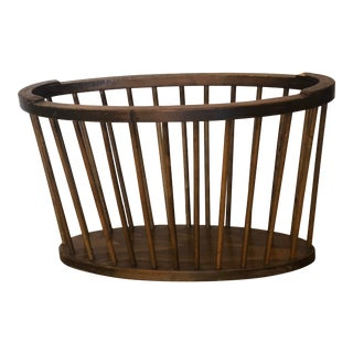 Danish Mid Century Spindle Magazine Rack For Sale