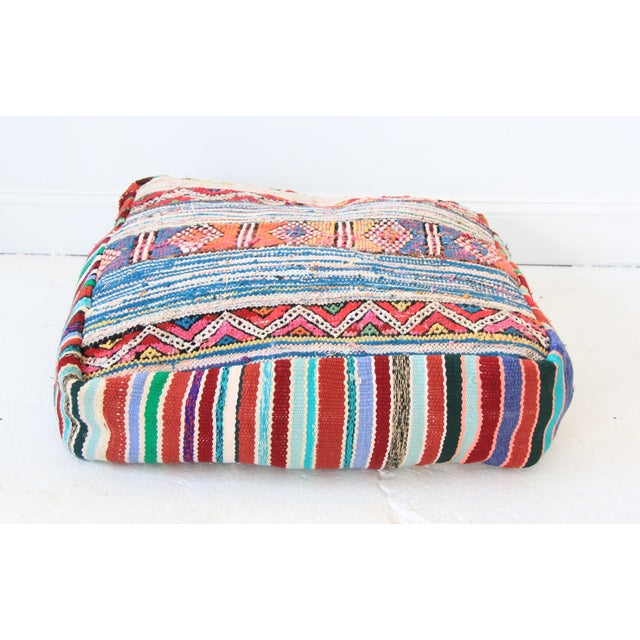 Vintage Moroccan Pouf - Image 2 of 6