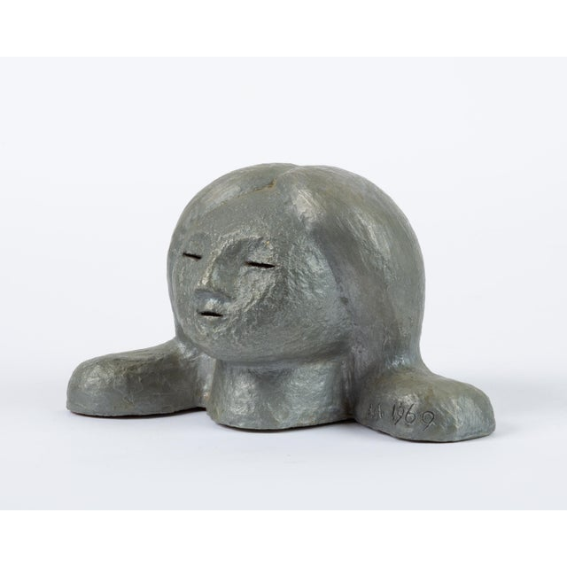 Alexa Acuña Plaster Bust of a Young Child For Sale - Image 4 of 11