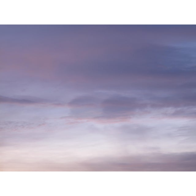 Contemporary Abstract Clouds Mounted Photographic Color Print For Sale