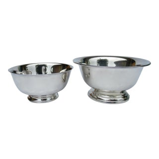 Vintage Silver Plate Reed & Barton and Poole Silversmith Paul Revere Side Dish, Serving Bowls -Set of 2 For Sale