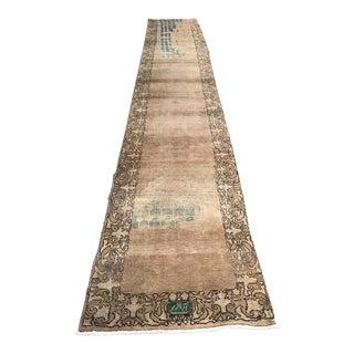 1980s Vintage Persian Wool Runner - 2′7″ × 18′4″