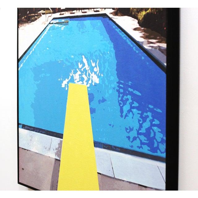 """Swimming Pool"" Acrylic Painting by Michael Giliberti - Image 7 of 10"