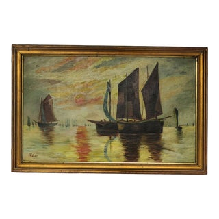 Claude Monet Style Impressionist Painting by Hubert For Sale