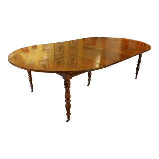 Louis Philippe Walnut Dining Table For Sale