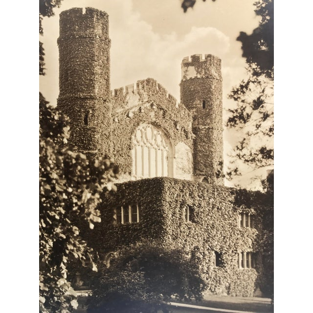 Silverprint Photograph of Gothic English Building w/Ivy 1929 For Sale - Image 4 of 5