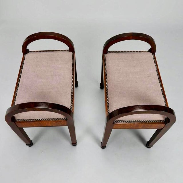 French Art Deco Upholstered Benches - A Pair - Image 10 of 10
