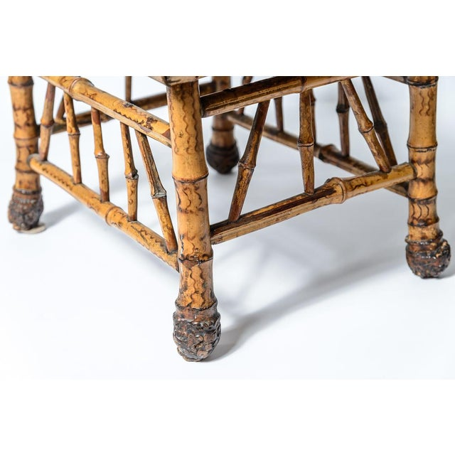 Brilliant 1930S English Root Bamboo Foot Stool With Animal Print Pdpeps Interior Chair Design Pdpepsorg