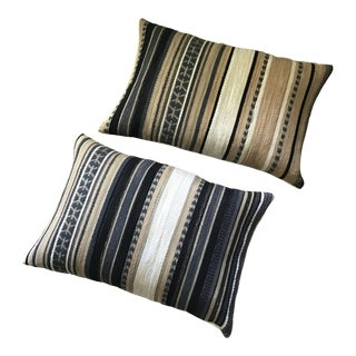 Kravet Couture Fabric Serape Blanket Style Pillows - a Pair For Sale