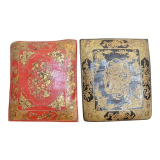 Chinese Embossed Leather Cushions For Sale