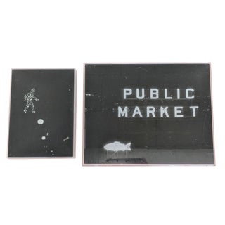 Set of 2 Framed Black and White Images of Seattle Wa For Sale
