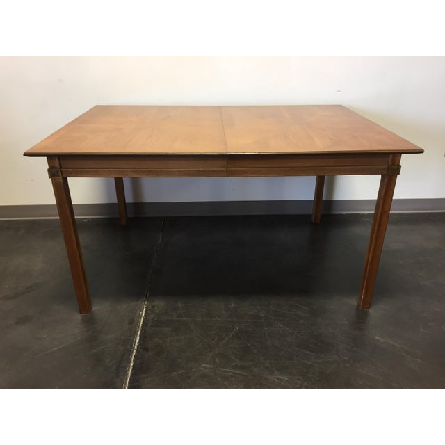 Offered is a Thomasville Tamerlane mid-century modern square dining table. No leaves. Very good vintage condition. Few...