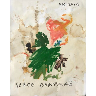 Abstract Oil Painting by Sean Kratzert, 'Serge Gainsbourg' For Sale