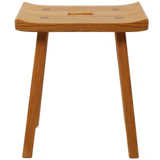 "Stool, Carl Malmsten ""Viking Stool"" For Sale"