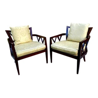 Barbara Barry for Baker Furniture Double X-Back Chairs - a Pair For Sale