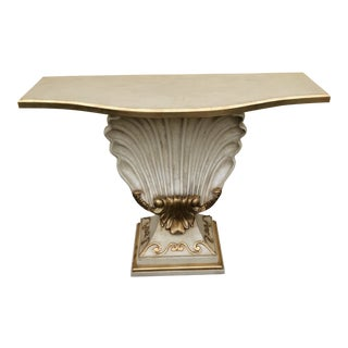Hollywood Regency Shell Console Table For Sale