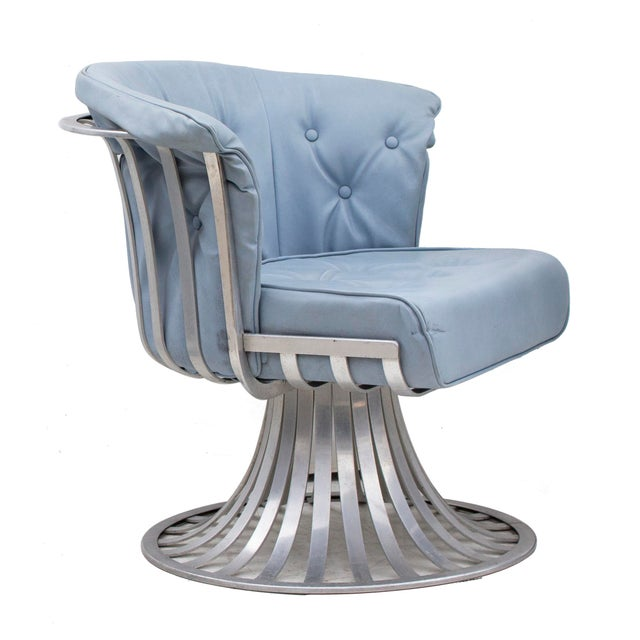 1960s Set of 4 Aluminum Tulip Chairs by Russsell Woodard For Sale - Image 5 of 10