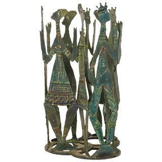Reimer Iron Sculpture of People in a Circle For Sale