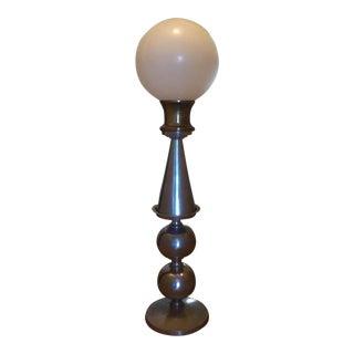White Globe Floor or Table Lamp For Sale
