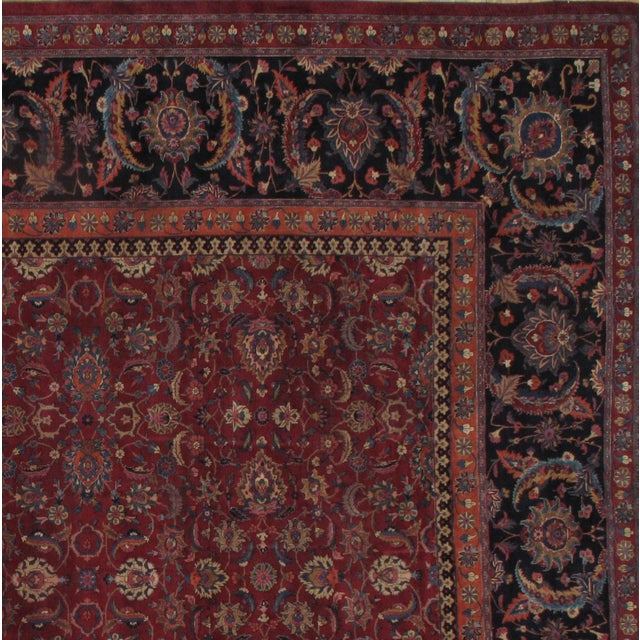 Antique Persian Mashhad Saver Rug. Handmade, Vegetable Dyed, Hand-Spun, Hand-Knotted Lamb's Wool Pile on a Cotton...