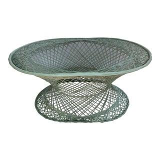 Vintage Spun Fiberlass Cocktail Table With Glass Top For Sale