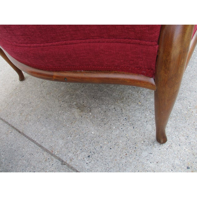 Robsjohn Gibbings for Widdicomb French Style Lounge Chair and Ottoman For Sale - Image 10 of 12
