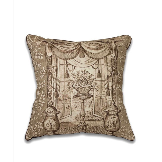 Chinoiserie Chinoiserie Ming Urn Print Pillow For Sale - Image 3 of 3