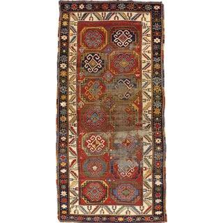 Antique Kazak Rug- 4′4″ × 8′10″ For Sale
