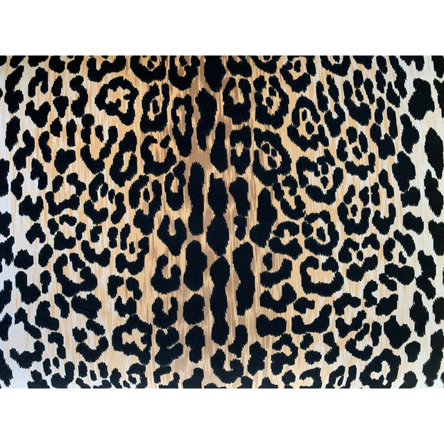 1970s Vintage Palecek Hollywood Regency Velvet Leopard X Benches -A Pair For Sale In West Palm - Image 6 of 12