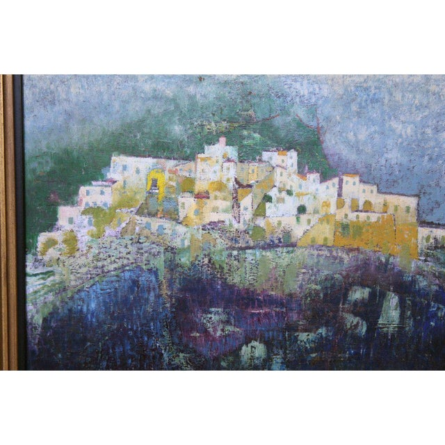 A nice acrylic or oil on board by Giuseppe Dilieto. It is signed titled and dated on the back. Nice colors and great...