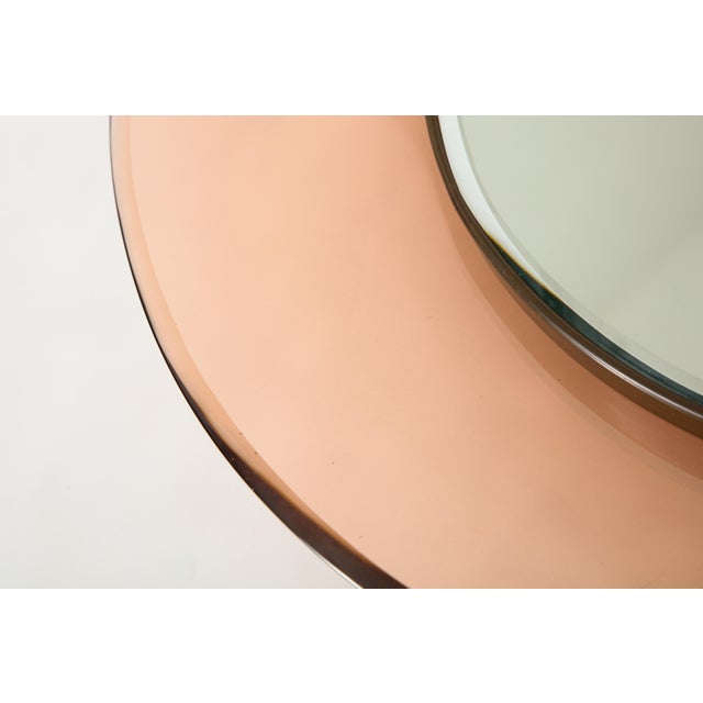 This Max Ingrand for Fontana Arte Wall Mirror is model #1669 designed in 1963. It's color, which is very difficult to...