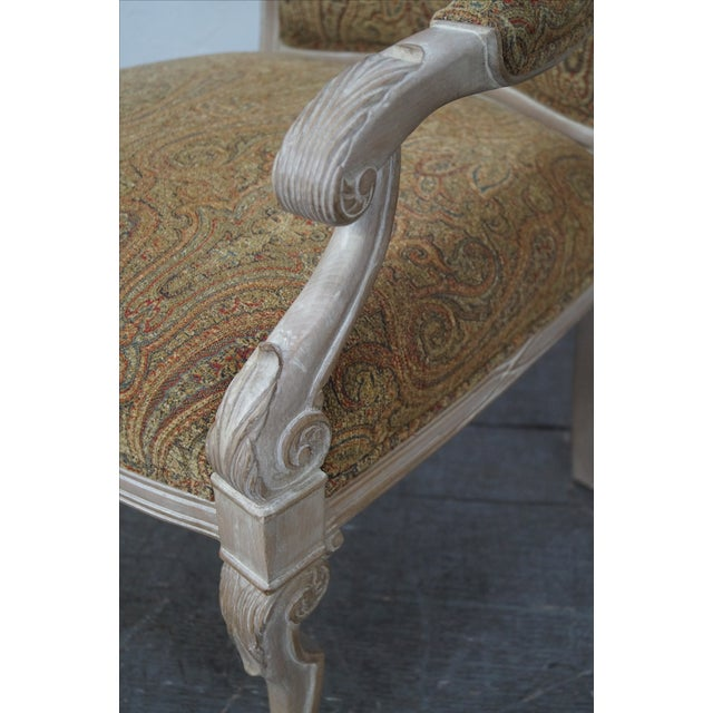 Regency Style Paisley Armchairs - A Pair - Image 10 of 10