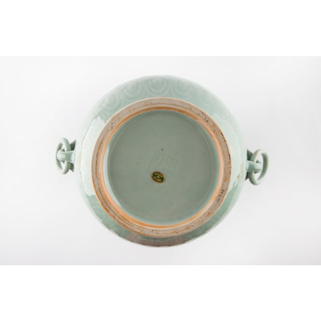 1960's Chinese Porcelain Vase in Celadon Glaze For Sale In Raleigh - Image 6 of 7