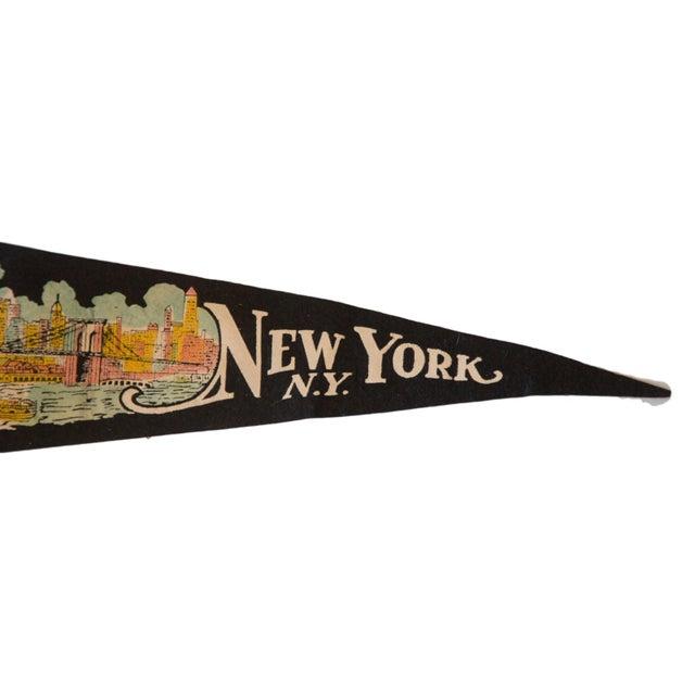 New York Wonder City Vintage Felt Flag - Image 3 of 3