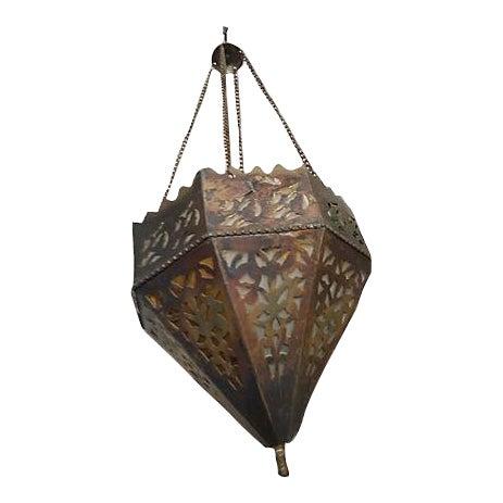 Vintage Turkish Brass Pendant For Sale