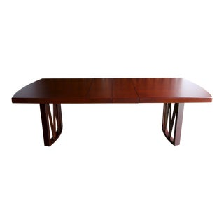 Early 20th Century Mid-Century Modern Paul Frankl for Johnson Furniture Co. Mahogany and Cork Dining Table
