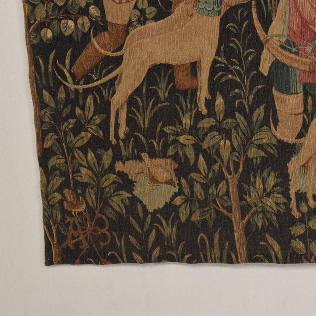 Fabric Large Italian Wall Tapestry by Paris Panneaux Gobelins For Sale - Image 7 of 12