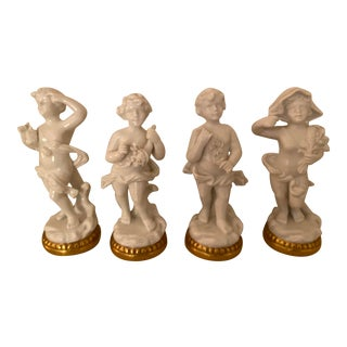 The Four Seasons Cherub Figurines - Set of 4 For Sale