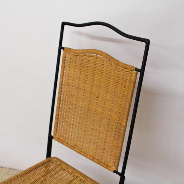 Pottery Barn Metal & Wicker Patio Chairs - S/3 - Image 4 of 8