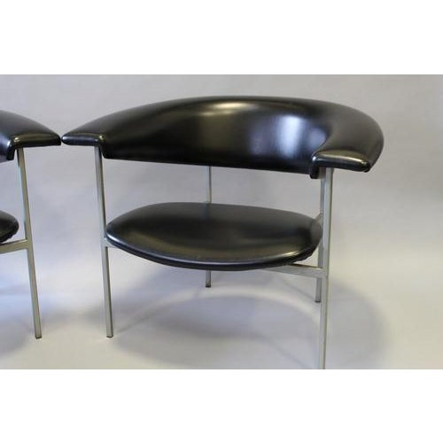 1970s Vintage Rudolf Wolf Fauteuil Black Leather Chair For Sale - Image 4 of 6