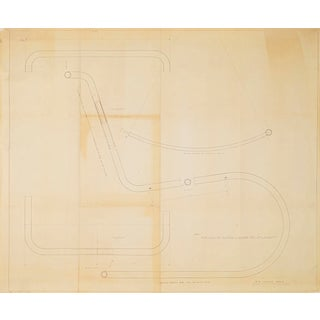 Mies Van Der Rohe Design Drawing, Mr Lounge Chair For Sale