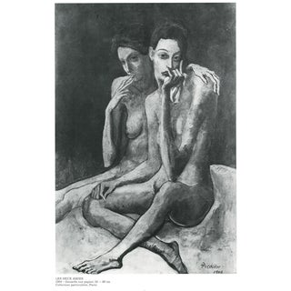 Valentine's Day Special! 1971 Picasso, Two-Sided Period Parisian Photogravure For Sale