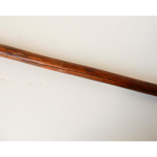Hand Carved Man Face Walking Stick / Cane - Image 8 of 9