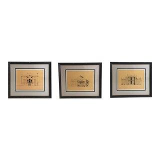 Framed Palladian Architectural Prints - Set of 3 For Sale