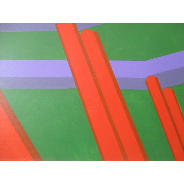 Abstract Geometric Acrylic Painting For Sale In Phoenix - Image 6 of 7